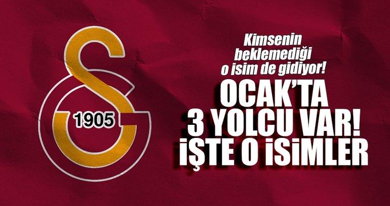 Galatasaray'da Ocak'ta 3 yolcu var!