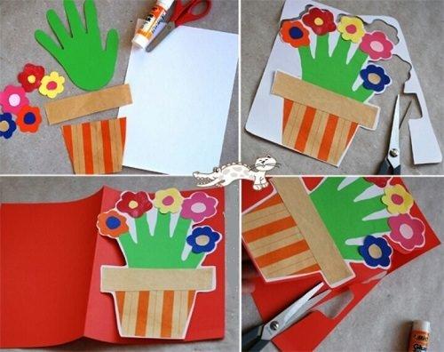 Anneler Günü için Kart Örnekleri (Okul Öncesi)