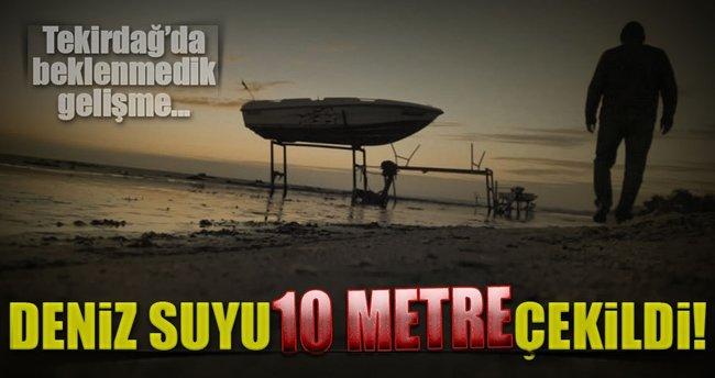 Tekirdağ'da deniz suyu 10 metre çekildi