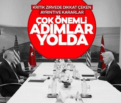 Son dakika haberi: Erdoğan - Biden zirvesinde kritik detay ve kararlar