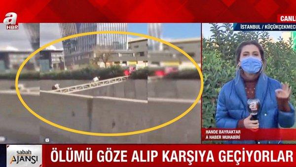 Son dakika! İstanbul'da şoke eden akılalmaz görüntüler! Ölüm tehlikesine aldırmadan 'Survivor' kamerada | Video