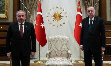 Başkan Erdoğan, TBMM Başkanı Şentop ile görüştü