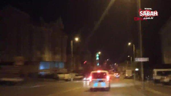 Ankara'da polis otomobiline çarpan alkollü sürücü otoparkta yakalandı | Video