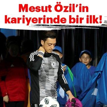 Mesut Özil'in milli takım kariyerinde bir ilk
