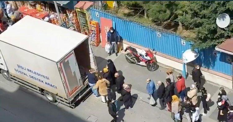 İstanbul'un göbeği Şişli'de CHP Genel Başkanı Kemal Kılıçdaroğlu'nu kızdıracak görüntüler