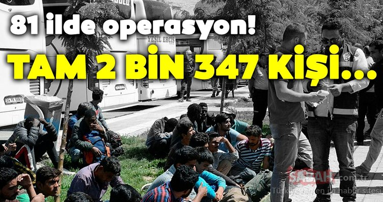 81 ilde eş zamanlı uygulama: 2 bin 347 düzensiz göçmen yakalandı