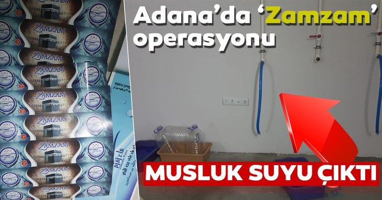 Zem zem suyu diyerek musluk suyu satmaya çalıştılar! 'Zamzam'a polis baskını
