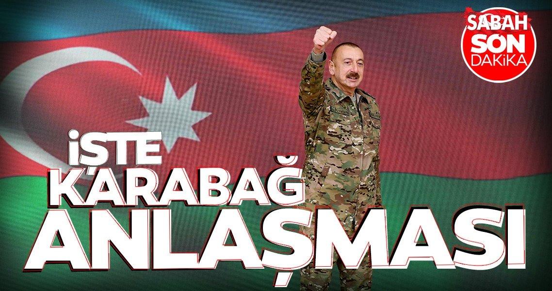 SON DAKİKA HABERİ... Aliyev maddeleri tek tek okudu! İşte Dağlık Karabağ anlaşması ve Azerbaycan'ın zaferi