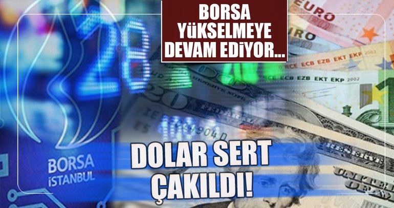 Dolar düşüyor, borsa yükseliyor