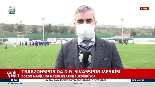 Trabzonspor'da Sivasspor maçı hazırlıkları sürüyor