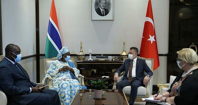 Cumhurbaşkanı Yardımcısı Fuat Oktay, Gambiyalı mevkidaşı Isatou Touray ile görüştü