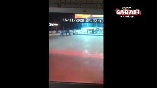Cinayet zanlısı benzinlikte gasp yaparken yakalandı