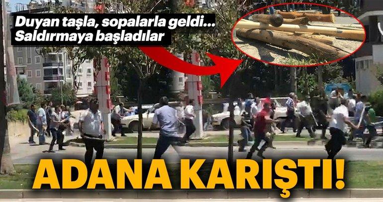 Son Dakika Haber: Adana'da 200 kişi birbirine girdi
