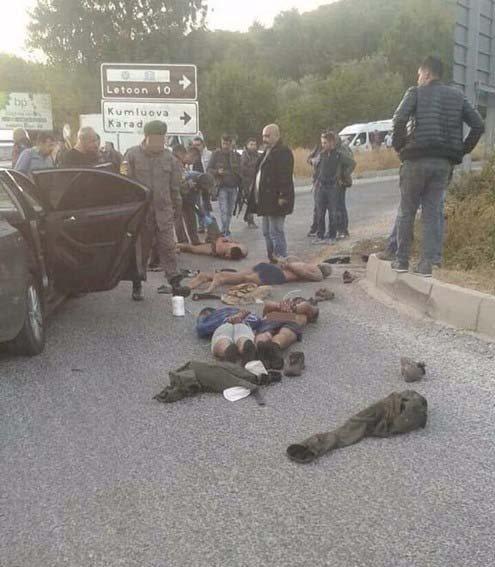Lazkiye'den gelen teröristler hakim karşısına çıkıyor