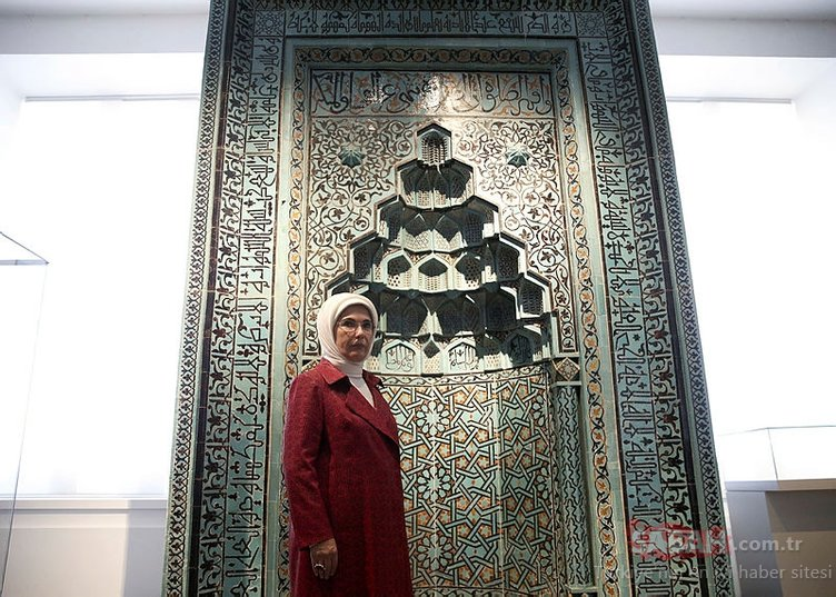 Emine Erdoğan Berlin'de Bergama Müzesi'ni ziyaret etti