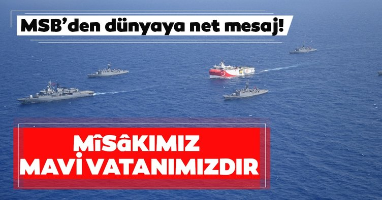 Milli Savunma Bakanlığından Mavi Vatan açıklaması: