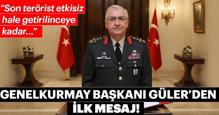 Genelkurmay Başkanı Yaşar Güler'den göreve başlama mesajı