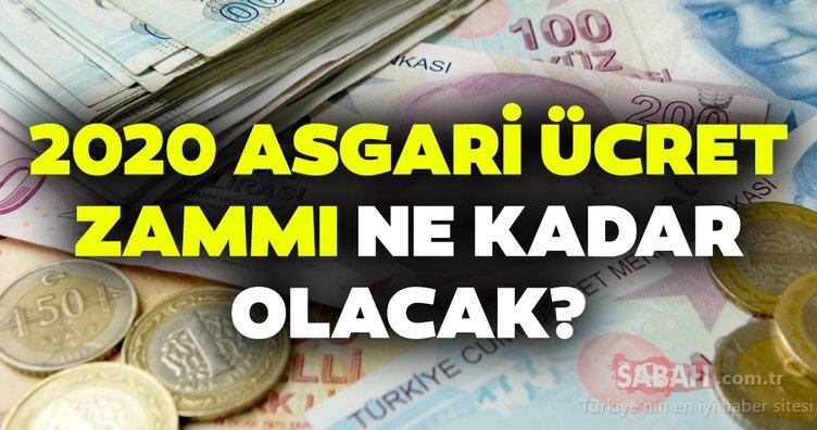 Ocak asgari ücret zammı ne kadar olacak? 2020 Asgari ücret zam görüşmeleri ne zaman başlayacak?