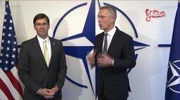 Son dakika! ABD Savunma Bakanı Esper ile NATO Genel Sekreteri Stoltenberg bir araya geldi | Video