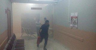 Niğde Adliyesi'nde yangın paniği