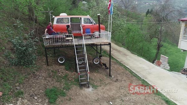 Trabzonlu baba kızlarına minibüsten ev yaptı