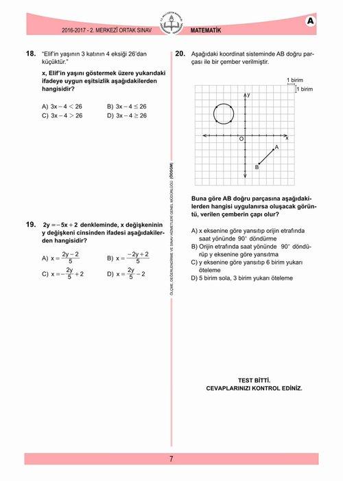 TEOG soru ve cevapları açıklandı! - İşte 2017 TEOG sınav soruları (Tüm dersler)