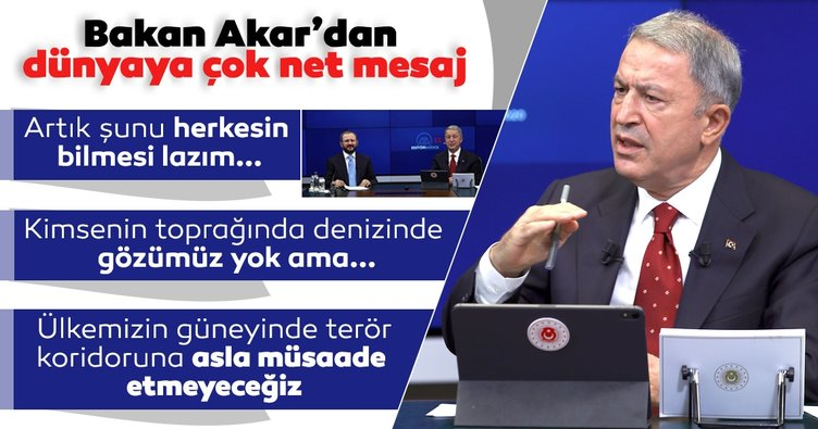 Son dakika: MSB Bakanı Hulusi Akar'dan dünyaya net Doğu Akdeniz mesajı: Artık şunu herkesin bilmesi lazım...