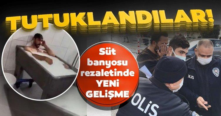 Son dakika: Konya'daki süt banyosu rezaletinde yeni gelişme! Süt banyosu yapan işçi ve arkadaşı tutuklandı