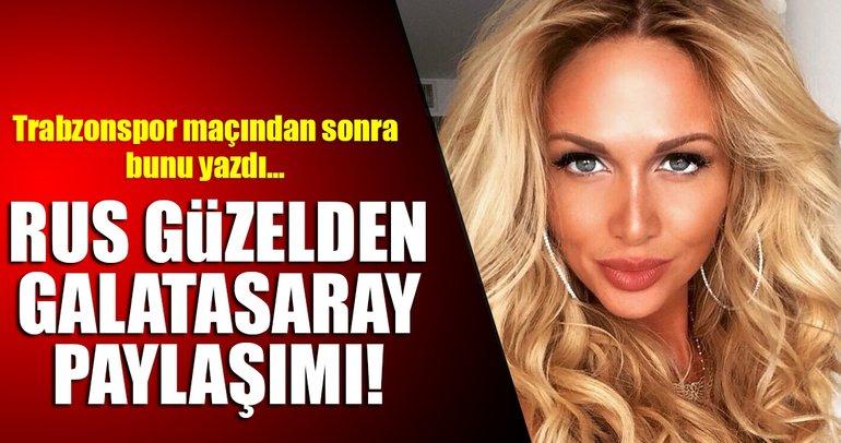 2018 Dünya Kupası Elçisi Victoria Lopyreva'dan Galatasaray mesajı