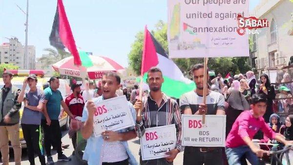 Filistinliler, İsrail'in ilhak planına 'hayır' dedi | Video