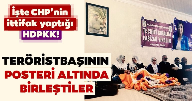 HDP'li vekiller Öcalan posteriyle poz verdi