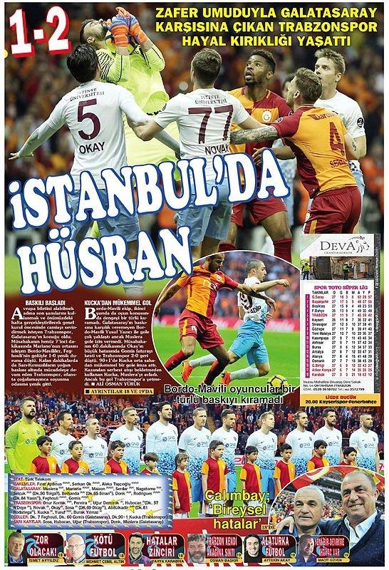 Yerel gazetelerden Trabzonspor'a sert sözler