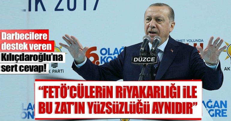 Cumhurbaşkanı Erdoğan'dan Kılıçdaroğlu'na sert tepki!
