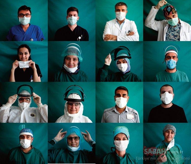 Coronavirüs mücadelesindeki kahramanlarımız sağlık çalışanları objektif karşısında...