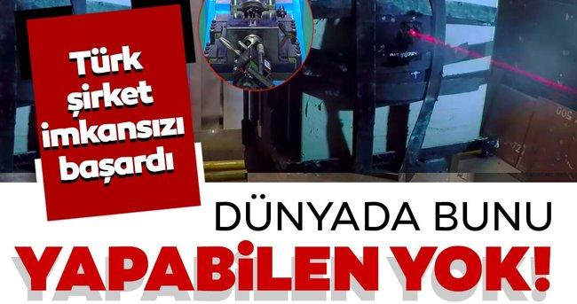 Dünyada bunu yapabilen yok: Türk şirket inanılmazı başardı!