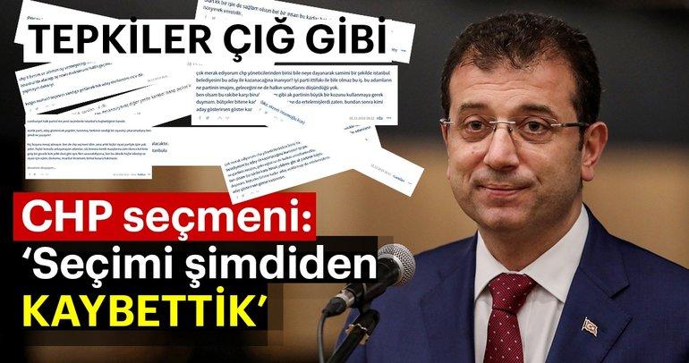 CHP'nin İstanbul için Ekrem İmamoğlu'nu aday göstermesi CHP'lileri kızdırdı: Sandığa gitmeyeceğiz