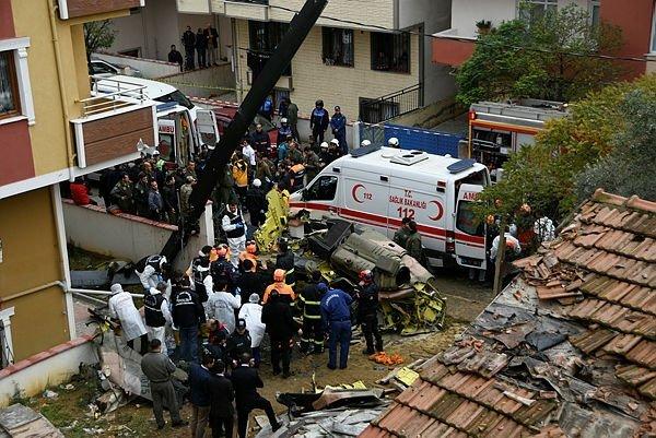 Son dakika haber: İstanbul Sancaktepe'de askeri helikopter düştü: 4 şehit