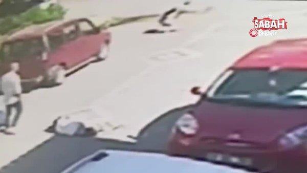 Samsun'da 2 kişinin öldürüldüğü silahlı çatışmanın görüntüleri dehşete düşürdü   Video