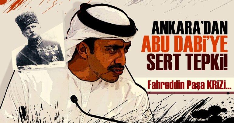 Ankara'dan Abu Dabi'ye sert tepki! Fahrettin Paşa krizi...