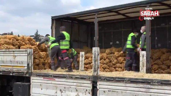 TMO tarafından çiftçiden satın alınan ürünler İstanbul'da dağıtılmaya başlandı | Video