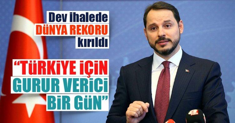 Enerji ve Tabii kaynaklar Bakanı Berat Albayrak: Türkiye için rekor günü