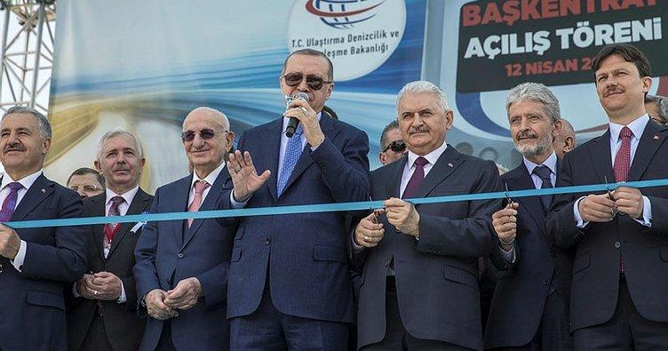 Son Dakika: Cumhurbaşkanı Erdoğan, Başkentray'ı açtı müjdeyi verdi... 24 Nisan'a kadar ücretsiz olacak!