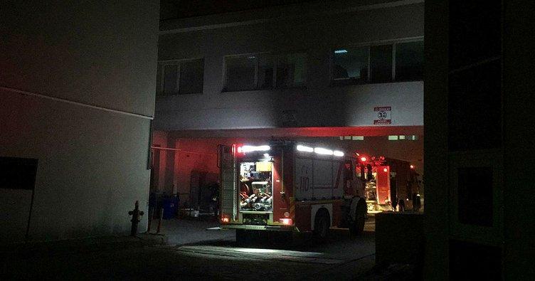 Hastanenin oksijen tüpü deposunda çıkan yangın korkuttu