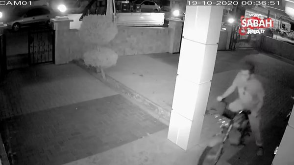 Alanya'da motosiklet hırsızlığı kamerada | Video