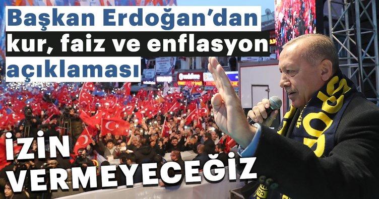 Başkan Erdoğan: Kur faiz ve enflasyon.. Bu şer üçgenine geçit vermeyeceğiz