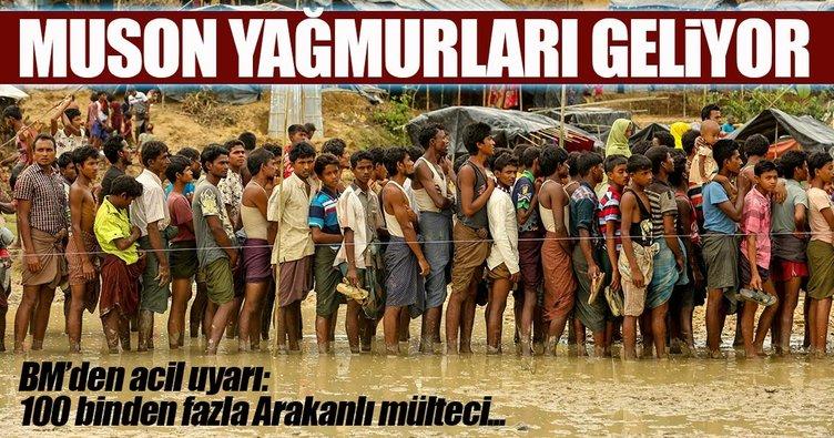 Arakanlı mültecilerin yeni korkusu Muson yağmurları