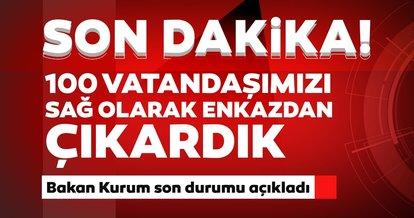 İzmir depremi ile ilgili son dakika haberi: Bakan Kurum enkaz altından çıkarılanların sayısını açıkladı!