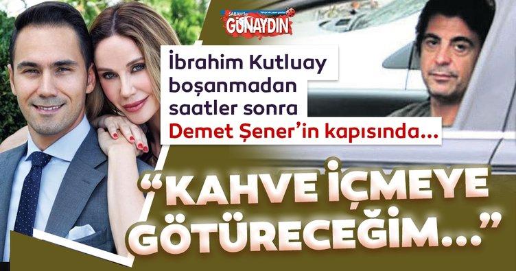 Son dakika: Demet Şener ile Cenk Küpeli boşandı! Demet Şener'in kapısında görüntülenen İbrahim Kutluay: Kahve içmeye götüreceğim...