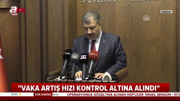 Sağlık Bakanı Fahrettin Koca: Vaka artış hızı kontrol altına alındı   Video