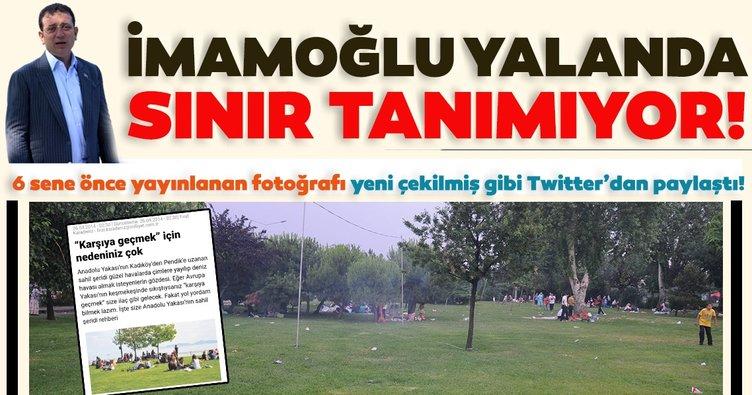CHP'li İmamoğlu yalanda sınır tanımıyor! 6 sene önce yayınlanan fotoğrafı yeni çekilmiş diye Twitter'dan paylaştı!